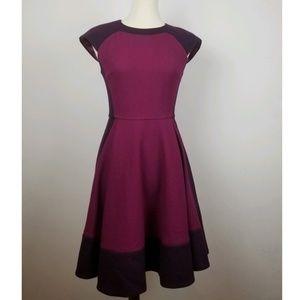 Ted Baker Purple/Magenta Linkah Fit N Flare Dress